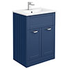 Keswick Blue 620mm Traditional Floorstanding Vanity Unit profile small image view 1