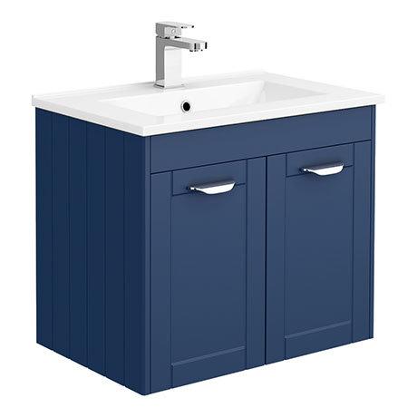 Keswick Blue 620mm Traditional Wall Hung 2 Door Vanity Unit