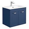 Keswick Blue 620mm Traditional Wall Hung 2 Door Vanity Unit profile small image view 1