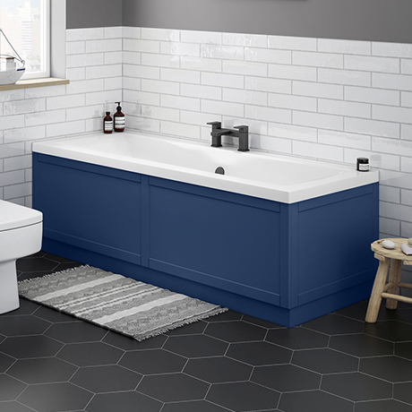 Keswick Blue 1700 x 700 Double Ended Bath Inc. Front + End Panels