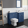Keswick Blue Sink Vanity Unit, Storage Unit + Toilet Package profile small image view 1