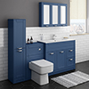 Keswick Blue 1015mm Sink Vanity Unit, Tall Boy + Toilet Package profile small image view 1