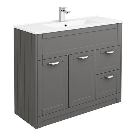 Keswick Grey 1015mm Traditional Floorstanding Vanity Unit