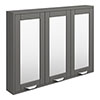 Keswick Grey 900mm Traditional Wall Hung 3 Door Mirror Cabinet profile small image view 1