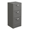 Keswick Grey 350mm Traditional 3 Drawer Storage Unit profile small image view 1