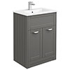 Keswick Grey 620mm Traditional Floorstanding Vanity Unit profile small image view 1