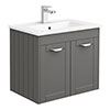 Keswick Grey 620mm Traditional Wall Hung 2 Door Vanity Unit profile small image view 1