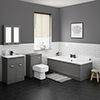 Keswick Grey Bathroom Suite profile small image view 1