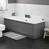 Keswick Grey 1700 x 700 Double Ended Bath Inc. Front + End Panels profile small image view 1
