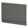 Keswick Grey 700mm Traditional Bath End Panel profile small image view 1