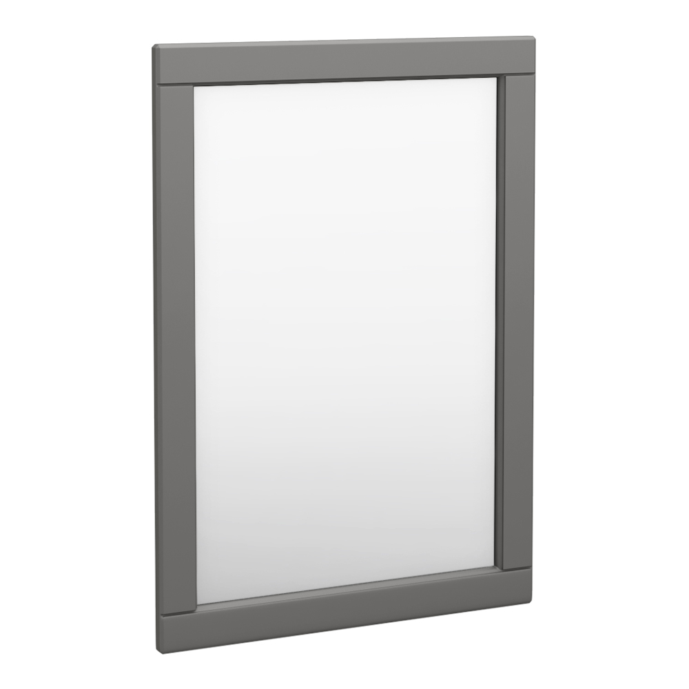 Keswick Grey 500 x 700mm Traditional Wall Hung Framed Mirror