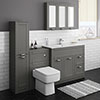 Keswick Grey 1015mm Sink Vanity Unit, Tall Boy + Toilet Package profile small image view 1