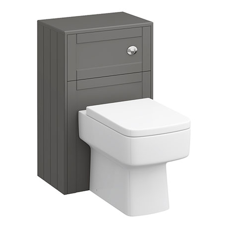 Keswick Grey 500mm Traditional Toilet Unit with Concealed Cistern