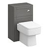 Keswick Grey 500mm Traditional Toilet Unit with Concealed Cistern profile small image view 1