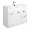 Keswick White 1015mm Traditional Floorstanding Vanity Unit profile small image view 1