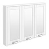 Keswick White 900mm Traditional Wall Hung 3 Door Mirror Cabinet profile small image view 1