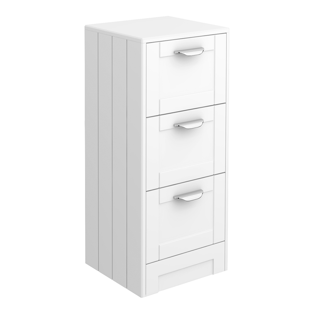 Keswick White 350mm Traditional 3 Drawer Storage Unit