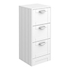 Keswick White 350mm Traditional 3 Drawer Storage Unit profile small image view 1