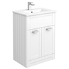Keswick White 620mm Traditional Floorstanding Vanity Unit profile small image view 1