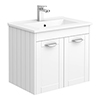 Keswick White 620mm Traditional Wall Hung 2 Door Vanity Unit profile small image view 1