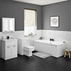 Keswick White Bathroom Suite profile small image view 1