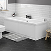 Keswick White 1700 x 700 Double Ended Bath Inc. Front + End Panels profile small image view 1