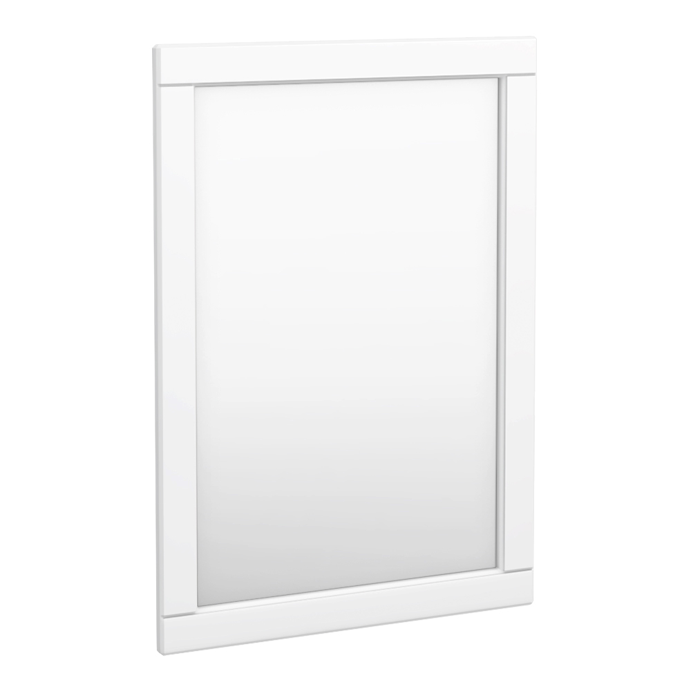 Keswick White 500 x 700mm Traditional Wall Hung Framed Mirror