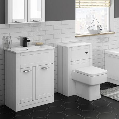 Keswick White Sink Vanity Unit + Toilet Package