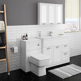 Keswick White 1015mm Sink Vanity Unit + Toilet Package