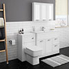 Keswick White 1015mm Sink Vanity Unit + Toilet Package profile small image view 1