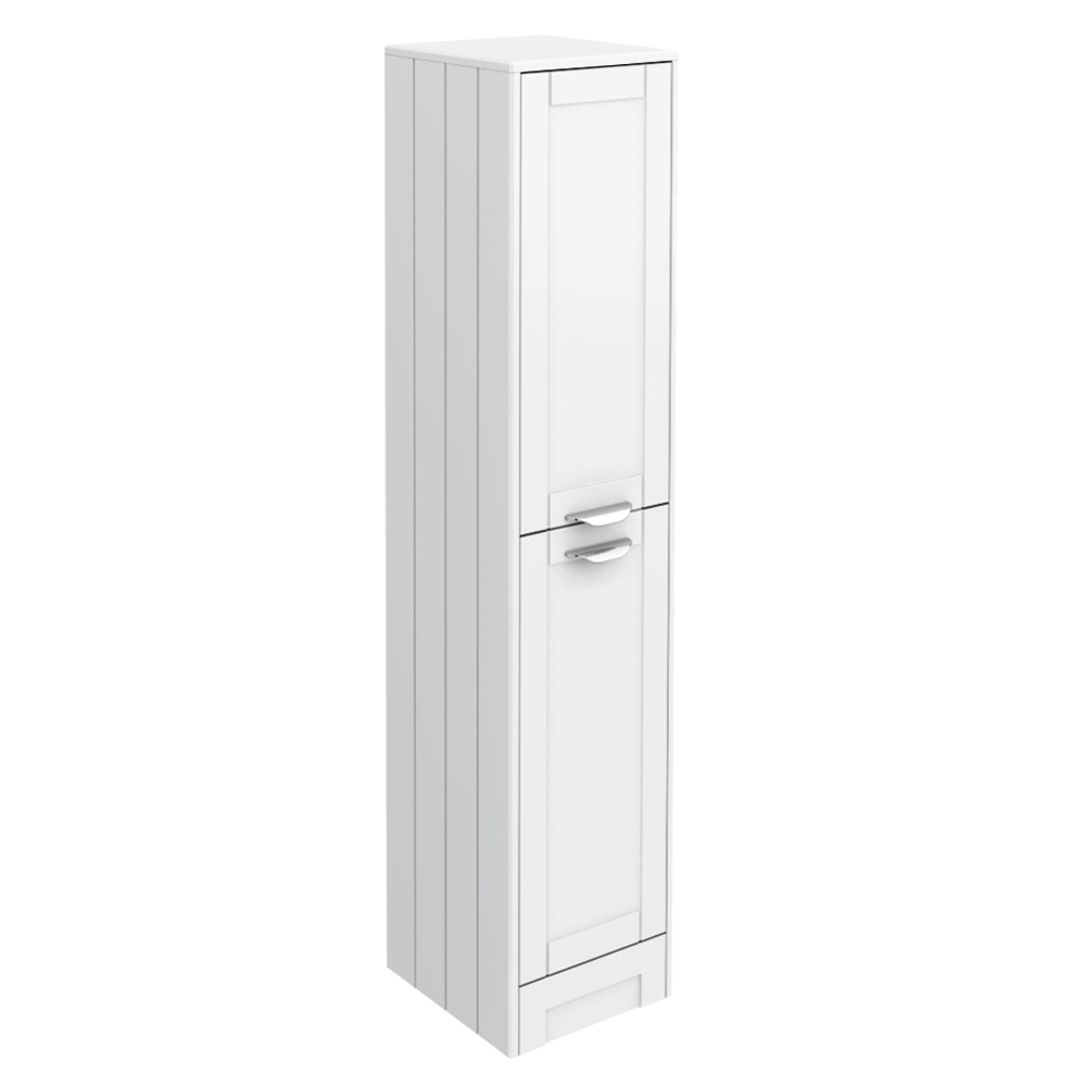 Keswick White 1400mm Traditional Floorstanding Tall Storage Unit