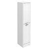 Keswick White 1400mm Traditional Floorstanding Tall Storage Unit profile small image view 1