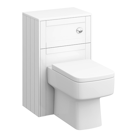 Keswick White 500mm Traditional Toilet Unit with Concealed Cistern