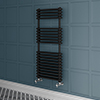 Keswick 500 x 1140 Cast Iron Style Traditional 2 Column Anthracite Towel Rail profile small image view 1
