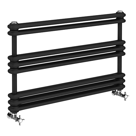 Keswick 1000 x 612 Cast Iron Style Traditional Anthracite Towel Rail