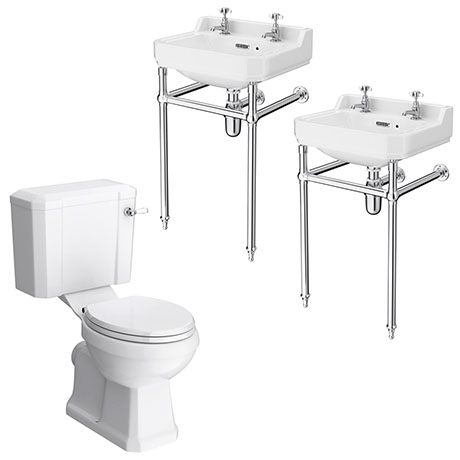 Keswick Traditional Double Basin En-Suite Bathroom