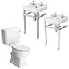 Keswick Traditional Double Basin En-Suite Bathroom profile small image view 1