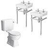 Keswick Traditional Double Basin En-Suite Bathroom profile small image view 1
