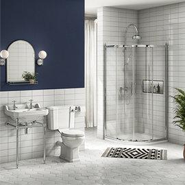 Keswick Traditional En Suite Bathroom Suite (900 x 900mm Enclosure)