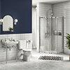 Keswick Traditional En Suite Bathroom Suite (900 x 900mm Enclosure) profile small image view 1