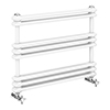 Keswick 800 x 612 Cast Iron Style Traditional White Towel Rail profile small image view 1