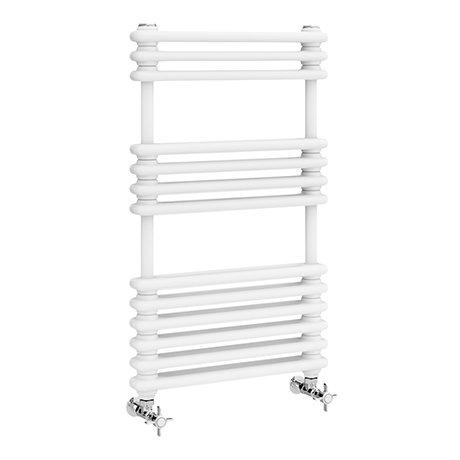 Keswick 500 x 832 Cast Iron Style Traditional White Towel Rail