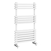Keswick 500 x 832 Cast Iron Style Traditional White Towel Rail profile small image view 1