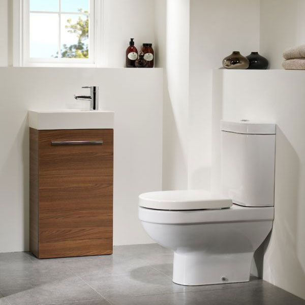 Tavistock Kobe 450mm Freestanding Unit & Basin - Walnut profile large image view 3