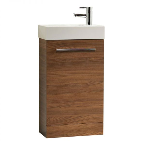 Tavistock Kobe 450mm Freestanding Unit & Basin - Walnut Large Image