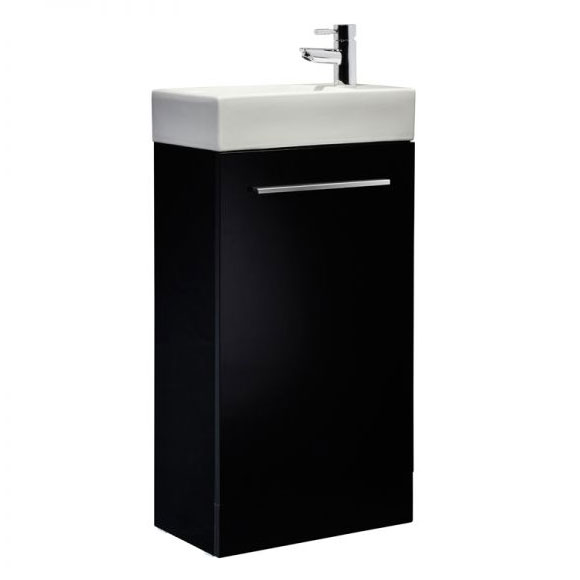 Tavistock Kobe 450mm Freestanding Unit & Basin - Gloss Black Large Image