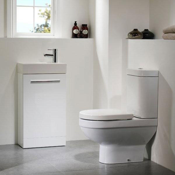 Tavistock Kobe 450mm Freestanding Unit & Basin - Gloss White Feature Large Image