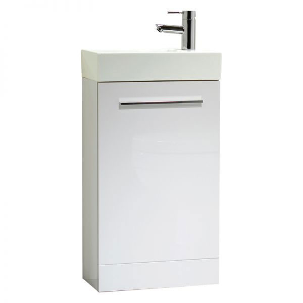 Tavistock Kobe 450mm Freestanding Unit & Basin - Gloss White Large Image