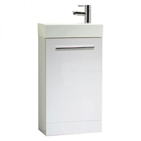 Tavistock Kobe 450mm Freestanding Unit & Basin - Gloss White