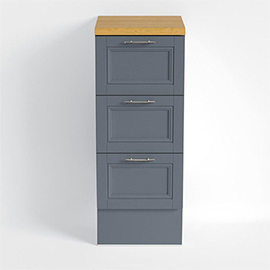 Heritage - Caversham 320mm Drawer Unit with Pewter Handles - Graphite